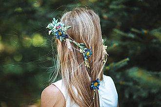 Ozdoby do vlasov - Kvetinový pletenec \