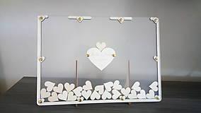 Dekorácie - Svadobná kniha hostí - plexi obraz - 8499725_