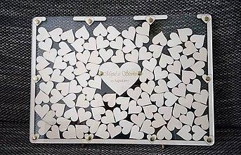 Darčeky pre svadobčanov - Svadobná kniha hostí - plexi obraz - 8499720_