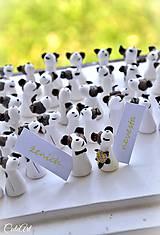 Jack Russel Teriér tricolor - darčeky pre svadobčanov, menovky