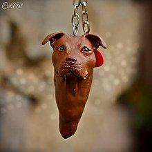 Kľúčenky - Americký pitbulteriér I. - kľúčenka podľa fotografie psa - 8500153_