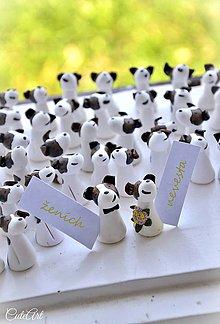Darčeky pre svadobčanov - Jack Russel Teriér tricolor - darčeky pre svadobčanov, menovky - 8500400_