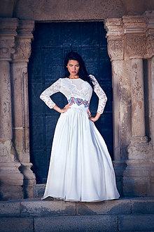 Šaty - Svadobné šaty s dlhým rukávom - 8500055_