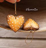 Náušnice - Heart dots / 3D - 8500676_