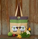 - Nákupná taška - ovečky - 8500320_