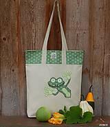 - Nákupná taška - zvedavá žabka - 8500328_