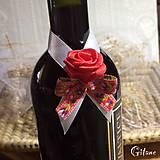 Darčeky pre svadobčanov - Stužky na fľaše - Folklore - 8500932_