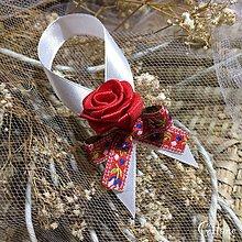 Darčeky pre svadobčanov - Stužky na fľaše - Folklore - 8500935_