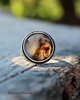 Prstene - Strieborný prsteň s achátom - 8501464_