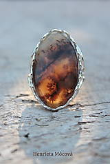 Prstene - Strieborný prsteň s dendritickým achátom - 8501530_