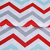 Textil - Biela, modrá, červená... a sivá - 8505360_
