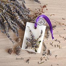 Dekorácie - Levanduľa - voskový plátok #01 - 8504722_