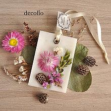 Dekorácie - Kvetinky - voskový plátok #14 - 8504839_