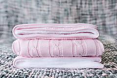 - Teplučká deka pre dievčatko OEKO-TEX® - Bledoružová - 8503352_