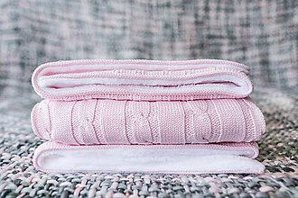 Textil - Teplučká deka pre dievčatko OEKO-TEX® - Bledoružová - 8503352_