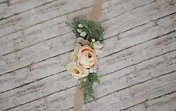 Opasky - Svadobný kvetinový opasok - 8504407_