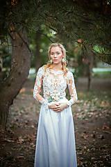 Opasky - Svadobný kvetinový opasok - 8504418_