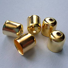 Komponenty - Koncovka 8x7mm-zlatá-1ks - 8503273_