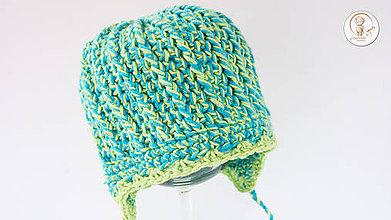 Detské čiapky - Háčkovaná detská čiapočka - 8503396_