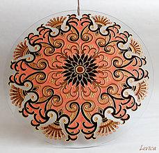 Dekorácie - Srdečná Mandala (farebné ladenie k interiéru) - 8504511_