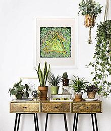 """Obrazy - Abstraktný akvarelový obraz """"Zrnko pšenice"""" - zľava z 90 € - 8505422_"""