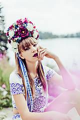 Ozdoby do vlasov - Kvetinová folk parta