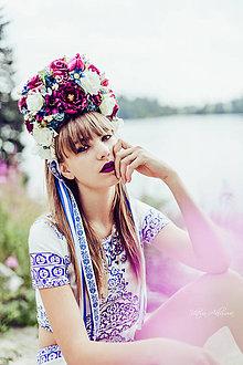 "Ozdoby do vlasov - Kvetinová folk parta ""Slovenka"" - 8503810_"