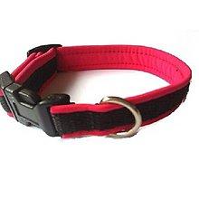 Pre zvieratká - Obojok ružový softshell (Š:1,5cm) - 8504117_