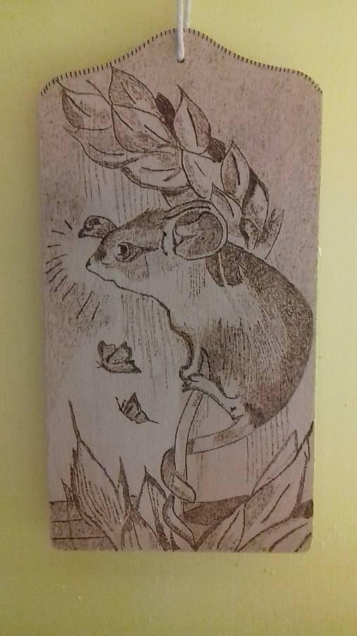 Drevená doska - myška   Cilekova - SAShE.sk - Handmade Obrázky 58d9fe5aa9