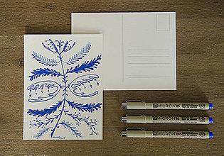 Kresby - Pohľadnica 2v1 - folk či boho? - 8504101_