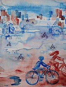 Obrazy - Na bicykli - 8505559_