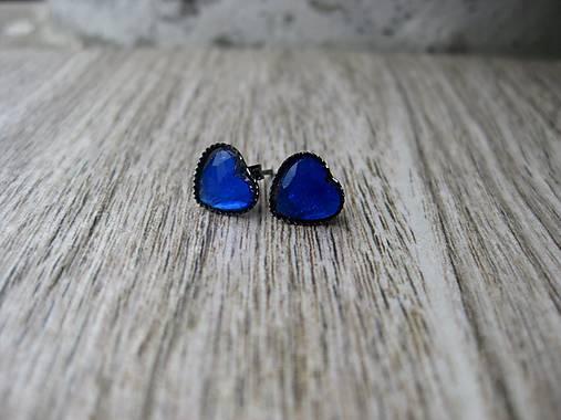 Srdiečka mini napichovačky - akrylové (Tmavo modré  č.1209)