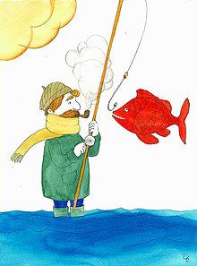 Iné - Na rybách, ilustrácia - 8503177_