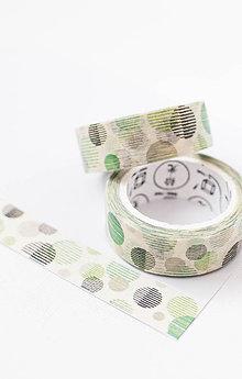 """Papier - WASHI / papierová páska na tvorenie """"modern dots"""" - 8503957_"""