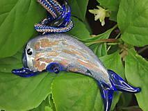 Náhrdelníky - Delfín z Isole di Murano - 8503329_