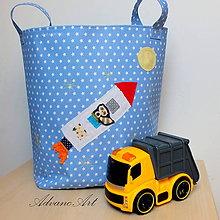 Detské doplnky - Maxi vreco na hračky raketa - 8502939_