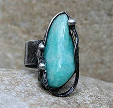 Prstene - Amazonit prsteň - 8504252_