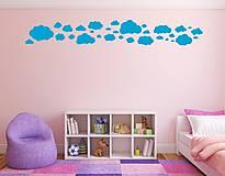 Dekorácie - Nálepky na stenu - Oblaky (Ľadovo modrá) - 8503543_