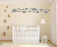 Dekorácie - Nálepky na stenu - Oblaky (Ľadovo modrá) - 8503544_