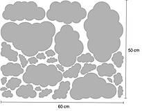 Dekorácie - Nálepky na stenu - Oblaky (Ľadovo modrá) - 8503546_