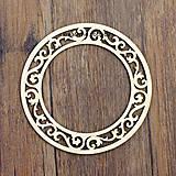 Polotovary - Vyrezávaný rámik - kruh - 8505074_