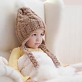 - Zimná pletená ušianka ...