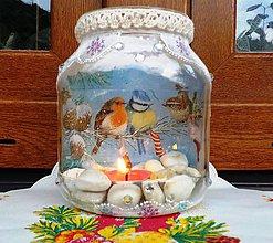 Svietidlá a sviečky - Svietnik vtáčatka - 8508358_