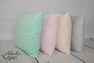 Textil - Minky mint vankúšik 40*40cm - 8506212_