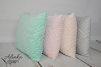 Textil - Minky creamy vankúšik 40*40cm - 8506224_