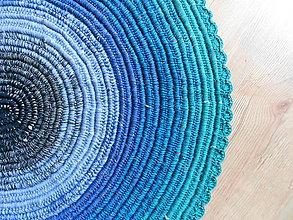 Úžitkový textil - Recy predložka modrá lagúna - 8507993_