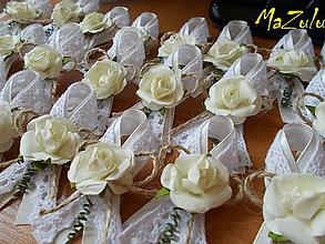 Pierka - vintage svadobné pierka VII. - 8505929_