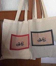 Nákupné tašky - nákupná taška bicykel - 8508277_