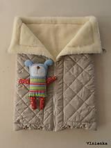 Textil - Deka DANIEL 100% merino Top Super wash ELEGANT 2 v 1 pastelová piesková - 8507259_