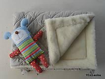 Textil - Deka DANIEL 100% merino Top Super wash ELEGANT 2 v 1 pastelová piesková - 8507262_